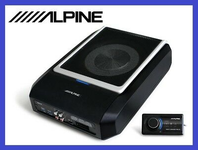 ALPINE PWD-X5 POWERFUL ACTIVE SUBWOOFER + 4-channel AMP + DSP BLUETOOTH NEW 2019