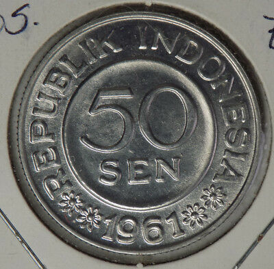 Indonesia 1961 50 Sen Coin - Brilliant Uncirculated