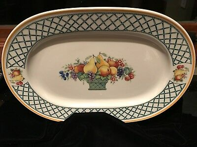 "Villeroy and Boch BASKET 9 x 13"" OVAL PLATTER Porcelain (Germany) Very Good Cond"