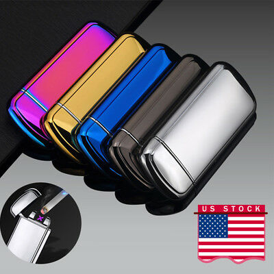 Electric USB Lighter Dual Arc Plasma Flameless Cigarette Windproof Rechargeable