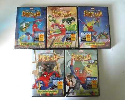 The Spectacular Spider-Man Vol. 1-5,Animated Series DVD