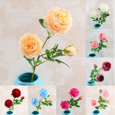 Artificial Rose Real Touch Fake Plant Wedding Flower Party Decor Home