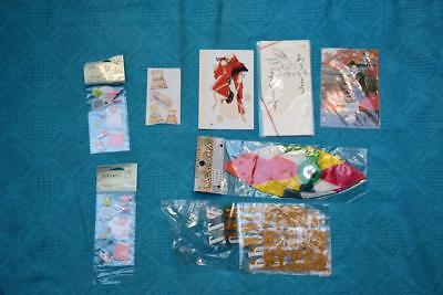 Scrapbooking Embellishments -Stickers-Letters-Japanese Postcards + Paper Balloon