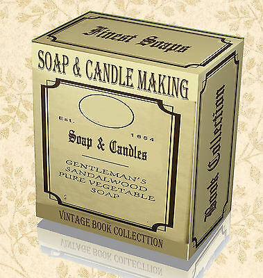 45 Rare Candle & Soap Making Books on DVD - Learn Craft Mould Base Kit Oil Dye