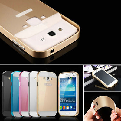 Ultra-thin Aluminum Metal Bumper PC Back Case Cover For Samsung Galaxy Phones