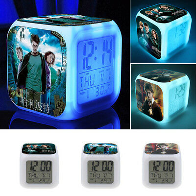 New Alarm Clock Harry Potter Hermione 7Color Changing Alarm Clock in Box present