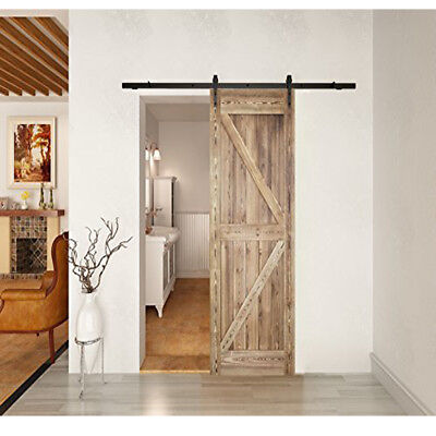 Standard 42inX84in Sliding Barn Door &Pre-Slotted Hand-Assembled Wood Door Slabs