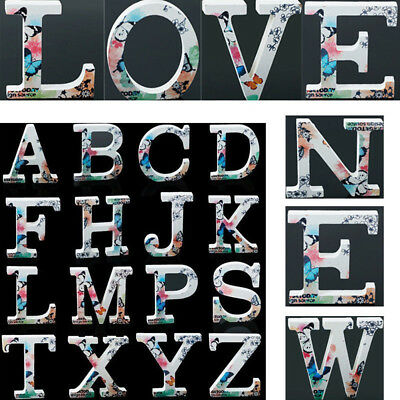Number 26 Large Wooden Letters Alphabet Wall Wedding Party Home Room DIY Decor