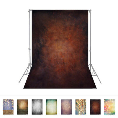 Andoer 1.5 * 2.1m/5 * 7ft Photography Background Brown Retro Wall Backdrop G5U4