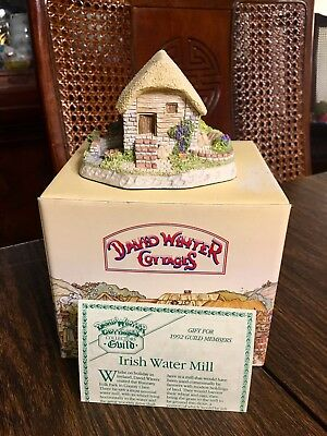 David Winter Cottages 1991 Irish Water Mill Collector's Guild SIGNED Box COA