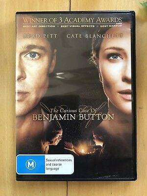 THE CURIOUS CASE OF BENJAMIN BUTTON. DVD. Like New. Region 4.