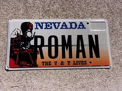Nevada The V & T Lives Old Train license plate  #  ROMAN