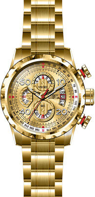 Invicta Men's Aviator Quartz Chrono 100m Gold Tone Stainless Steel Watch 28161