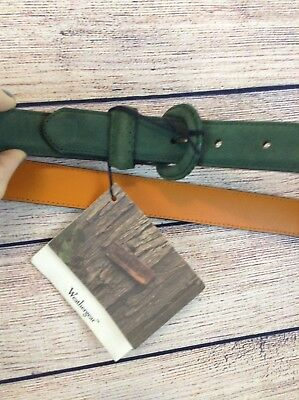 NWT Timberland Womens Belt Green L Leather