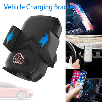 10W Qi Wireless Fast Charger Car Mount Holder Automatic Infrared Sensor Charging