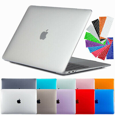 For Apple Macbook Air 13'' 2018 Hard Rubberized Clear Laptop Case Keyboard Shell