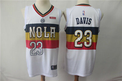 NEW Orleans Pelicans #23 Anthony Davis Swingman Basketball Jersey White