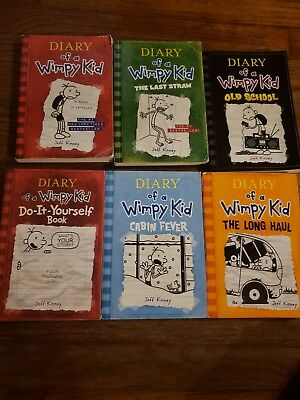 Lot of 6 Diary of a Wimpy Kid Books by Jeff Kinney