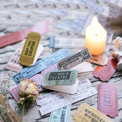 30pcs/pack Nostalgia Tickets Bookmarks Concert Stub Tab for Books Friends Gifts