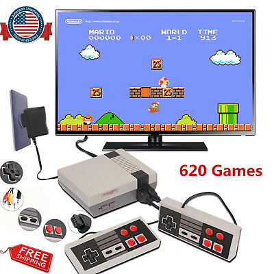 Mini Retro Classic Edition Game Console TV Built-in 620 Games with 2 Controllers