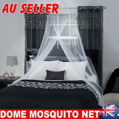Double Single Queen Canopy Bed Curtain Dome Stopping Mosquito Insect Net Netting