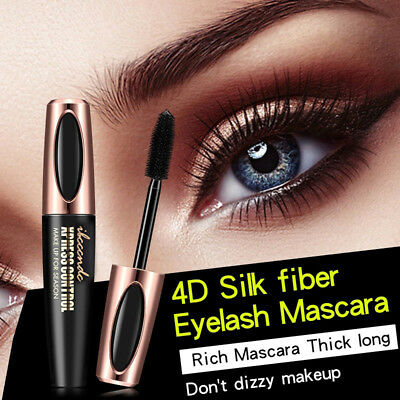 1 Stück 4D Silk Fiber Eyelash Mascara Extension Black pestañas impermeables ES