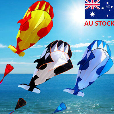 215*120cm 3D Cartoon Whale Software Kite Toy Single Line BechWith String Outdoor
