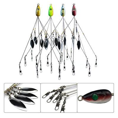 1Pcs 5 Arms 4 Blades Umbrella Alabama Rig for Bass Crappie Lure Fishing Bait