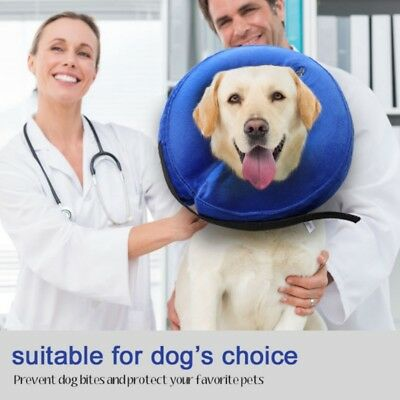 Pet Dog Inflatable Neck Collar Puppy Soft E-Collar Protective Head Cone Collar
