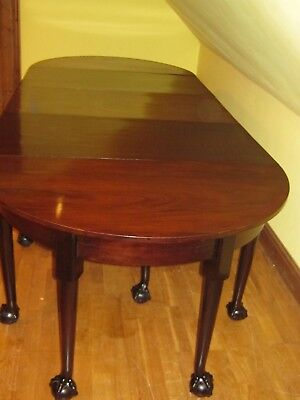 Very Large George Iii Circ 1790 Cuban Mahogany Dining Table To Seat 12