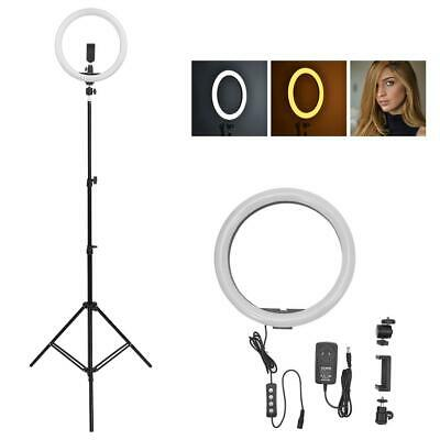 "180LED 14"" 5500K Fill Light Dimmable Adjustable Ring Light Make Up Studio"