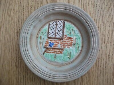 Vintage H.J. Wood Ltd Burslem England Handpainted Window small plate/ashtray