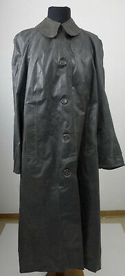 Damen Kleppermantel Regenmantel Gummi Rubbercoat Rillo  Gr. 42 grau