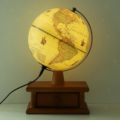 20cm World Map With Stand Geography Educational Toy Table Ornament Kids Gift