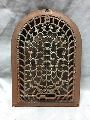 Antique Cast Iron Arch Dome Top Floor Register Heat Grate 8X12 Old Vtg 733-18C
