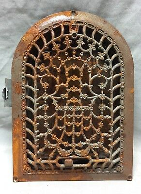 Antique Cast Iron Arch Dome Top Floor Register Heat Grate 8X12 Old Vtg 734-18C