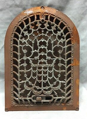 Antique Cast Iron Arch Dome Top Floor Register Heat Grate 8X12 Old Vtg 735-18C