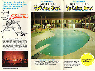 Holiday Inn Northern Black Hills SD Vintage Travel  Brochure Color Photos Map