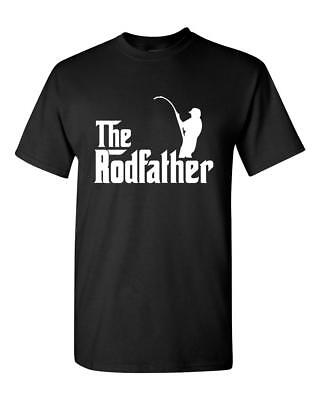 The RodFather / Rod Father - Fishing Angling Cod / Rod - Men's T Tee Shirt S-2XL