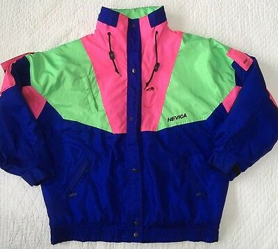 Vintage Mens Womens  Nevica Survival Insulated Ski Jacket Stow Hood  Size 44/14