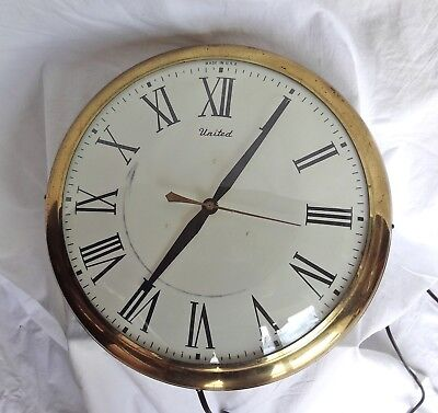 """ANTIQUE United Jeweler's Electric Clock. Aproximately 13 1/4"""". Works."""