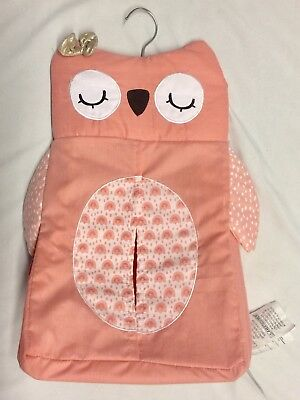 Lambs & Ivy Pink Owl Diaper Holder