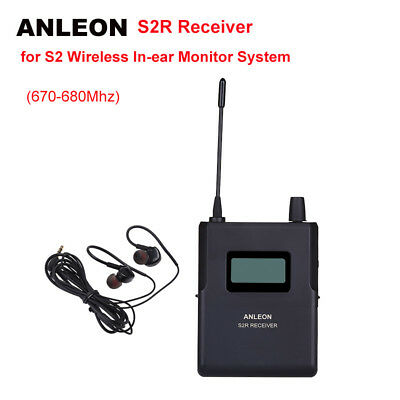 UHF 670-680Mhz ANLEON S2-R Receiver For Wireless Stereo Monitor System IEM Stage