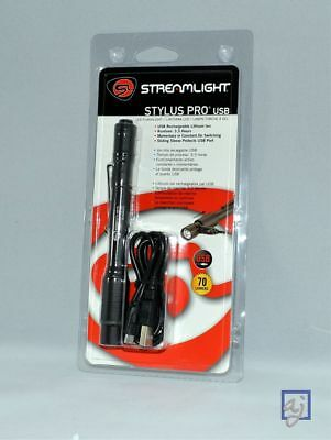 Streamlight Stylus Pro USB LED Rechargeable Flashlight Penlight w/holster 66134