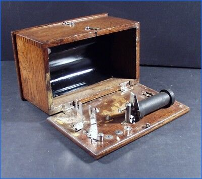 Antique Medical Shock Box, Quack Electric Shock Therapy Wooden Wood Box