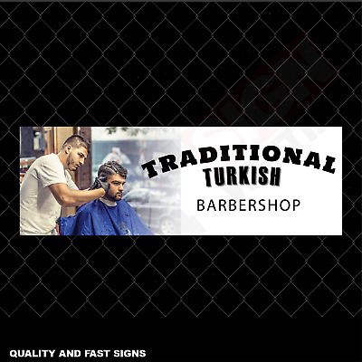 Traditional Turkish Barbershop Signage Colour Sign Printed Heavy Duty 4041