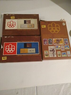 1976 Olympic Stamp Souvenir Collection Montreal Canada Vol.1&2 And Stamp Case