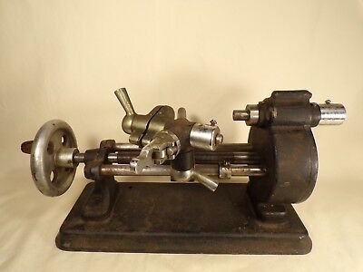 Antique Hand Crank Clock or Watchmaker Model Maker Gunsmith Jeweler Lathe Tool