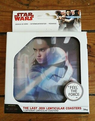Star Wars - The Last Jedi - 4 Different Lenticular Coasters - 4 Sous-Verres