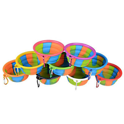 Suitable Pack Large Size Collapsible Dog Bowl Food Grade Silicone BPA Free New